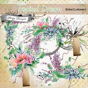 Tropical Dream [ Embellishment PU ] by Florju Designs