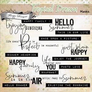 Tropical Dream [ Word Art PU ] by Florju Designs