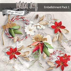 Winter Day [ Embellishment Pack 1 PU ] by Florju Designs
