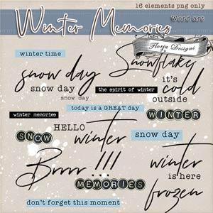 Winter Memories { English WA PU } by Florju Designs