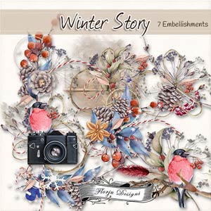 Winter Story [ Embellishments PU ] by Florju Designs