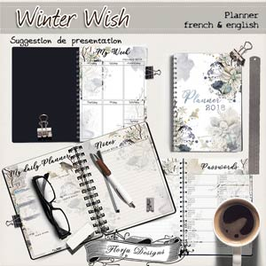 Planner2018 { Winter Wish PU } by Florju Designs