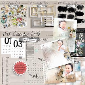 Calendar 2018 { DIY PU } by Florju Designs