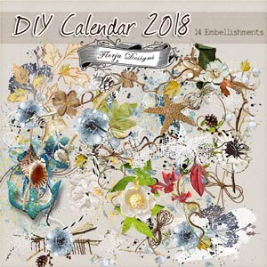 Calendar 2018 { Embellishments PU } by Florju Designs