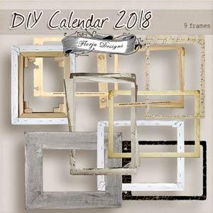 Calendar 2018 { DIY Frames PU } by Florju Designs
