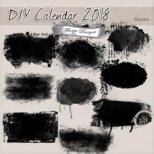 Calendar 2018 { DIY Masks PU } by Florju Designs