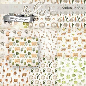 Babies Addon Papers PU By Florju designs