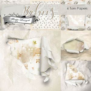 Babies Ripped Papers PU By Florju designs