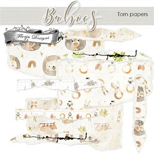Babies Torn Papers PU By Florju designs