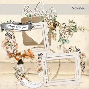 Babies Clusters PU By Florju designs