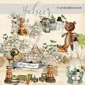 Babies Embellishments PU By Florju designs