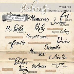 Babies Word Arts PU By Florju designs