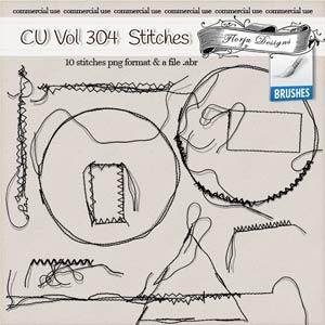 CU vol 304 Stitch Brush { Florju Designs }