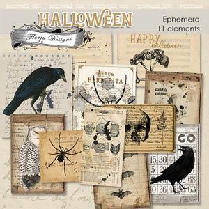 Halloween Ephemera PU by Florju Designs