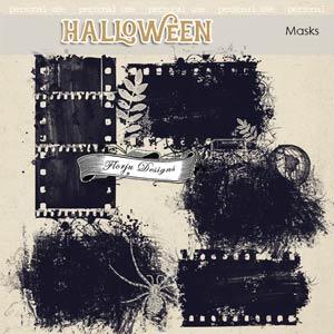 Halloween Masks PU by Florju Designs