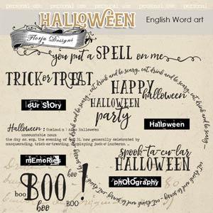Halloween Word Art PU by Florju Designs