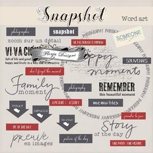 Snapshot { Word Art PU } by Florju Designs
