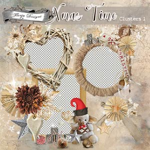Xmas Time Cluster Pack 1 by Florju Designs