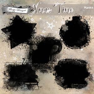 Xmas Time Masks by Florju Designs