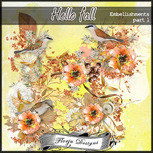 Hello Fall Embellishments Pack 1