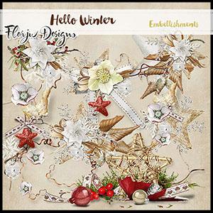 Hello Winter  Embellishments