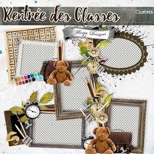 Rentrée des Classes  { Clusters PU } by Florju Designs