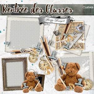 Rentrée des Classes  { Cluster Frame PU } by Florju Designs