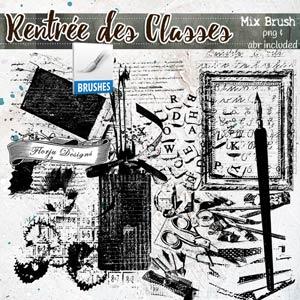 Rentrée des Classes  { Mix Brush PU } by Florju Designs