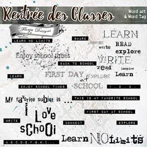 Rentrée des Classes  {Wa & WordTag PU } by Florju Designs