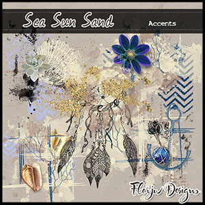 Sea Sun Sand Accents