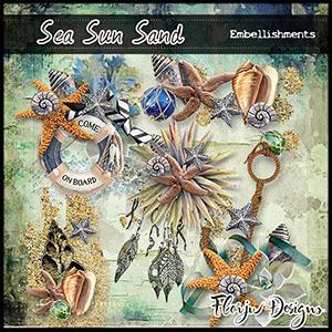 Sea Sun Sand Embellishments
