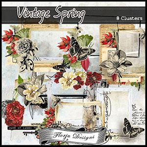 Vintage Spring { Clusters PU } Florju Designs