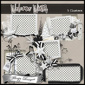 Welcome Winter { Clusters } by Florju Designs
