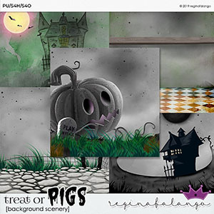 TREAT OR PIGS  BACKGROUND SCENERY