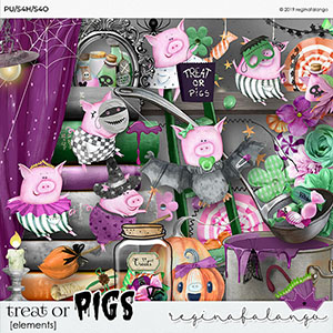 TREAT OR PIGS ELEMENTS