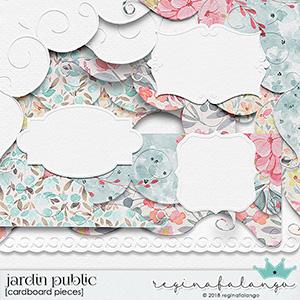 JARDIN PUBLIC CARDBOARD PIECES