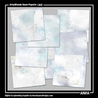 ArtsyBlendz Snow Paperie