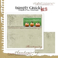Simply Quick #13 {Thanksgiving}