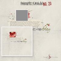 Simply Quick No. 23 {Happy}
