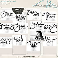 Month to Month 2014 Calendar