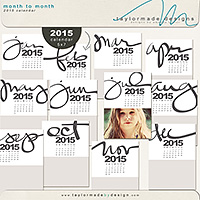 Month to Month 2015 Calendar
