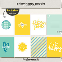 Shiny Happy People Journal Cards