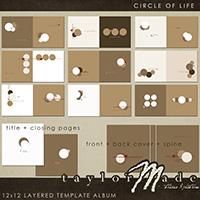 Circle of Life - 12x12 Layered Templat Album
