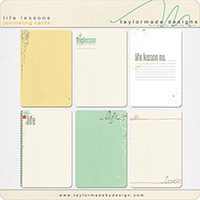 life lessons JOURNALING CARDS