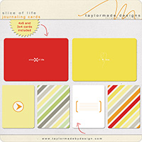 slice of life journaling cards