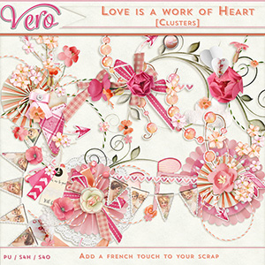 Love is a work of heart - Clusters