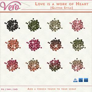 Love Is A Work of Heart Glitter Styles by Vero