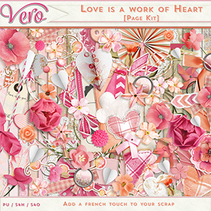 Love is a work of heart - Page Kit
