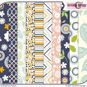 La Botanical Patterned Papers Pack