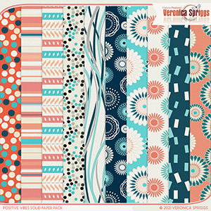 Positive Vibes Patterned Papers Pack